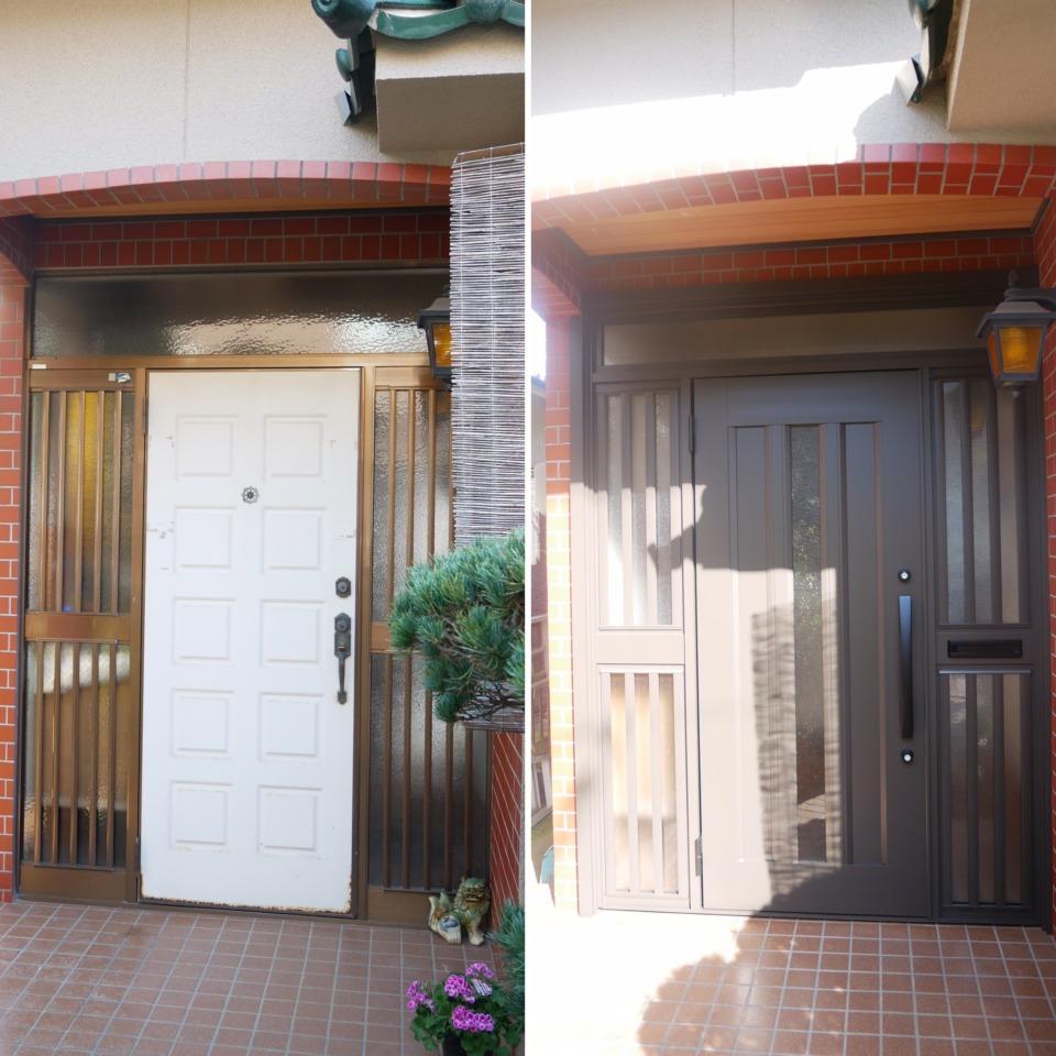 玄関ドアの取替えってどんな風に行われるの?